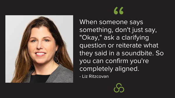 Liz Ritzcovan - What lesson have you learned from making a past mistake?
