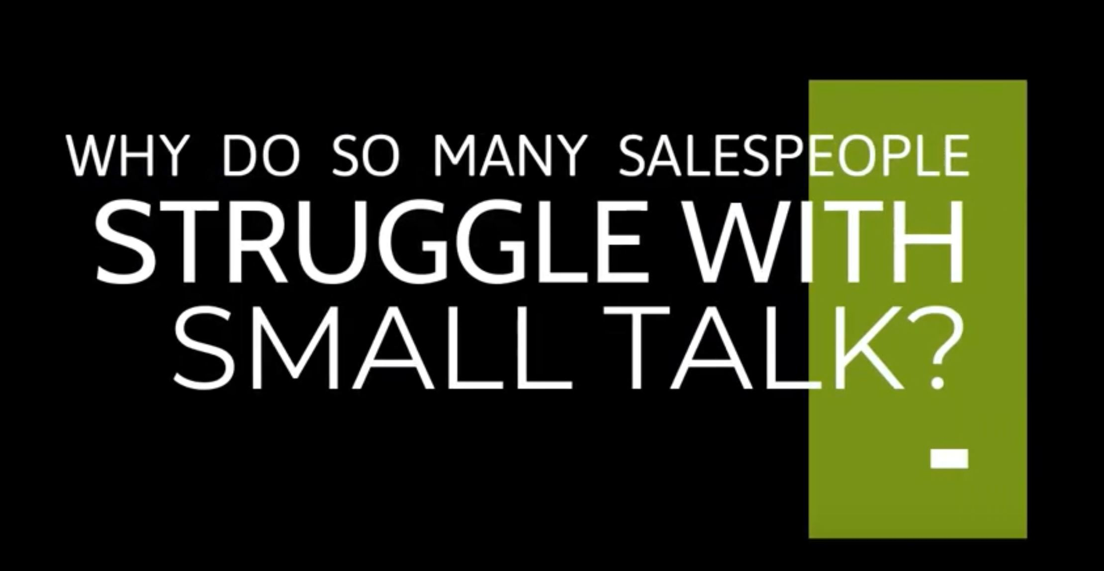 Robin Dreeke Blog- Struggling with small talk