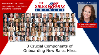 3 CRUCIAL COMPONENTS OF ONBOARDING NEW SALES HIRES