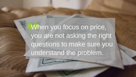 focusing on price